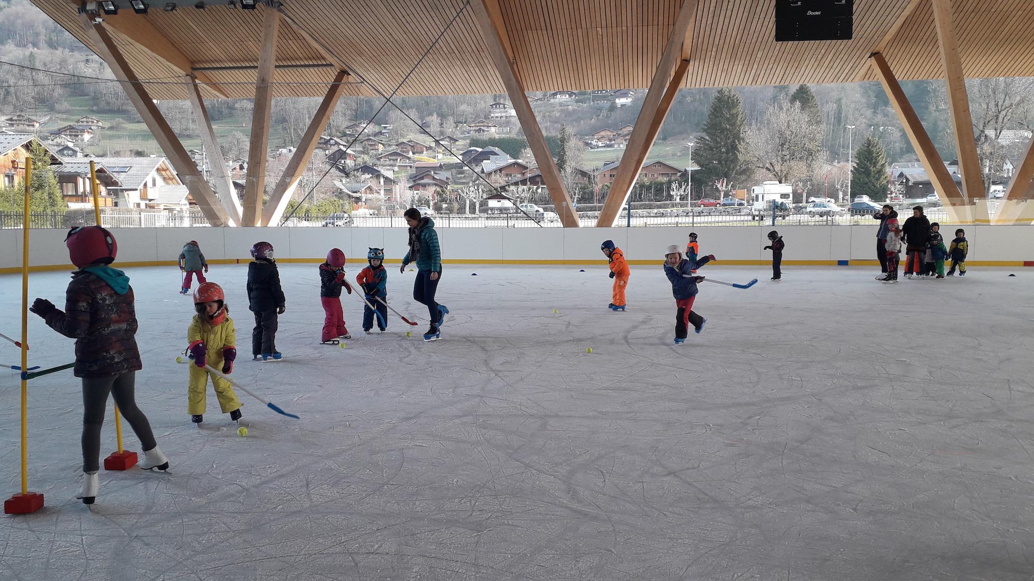 patin à glace 2019 patinoire de Samoëns